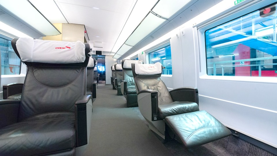 Seats location in Premium class on Sapsan train