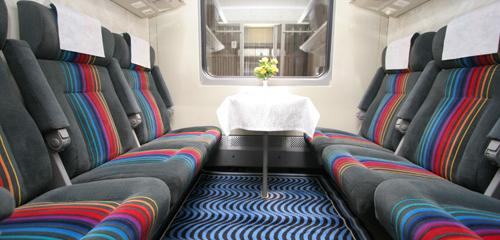 Nevsky Express train has only Economy Class + seats with a cold snack included in the ticket price