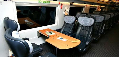 Premium Class Seats on board Sapsan trains have leather coverings